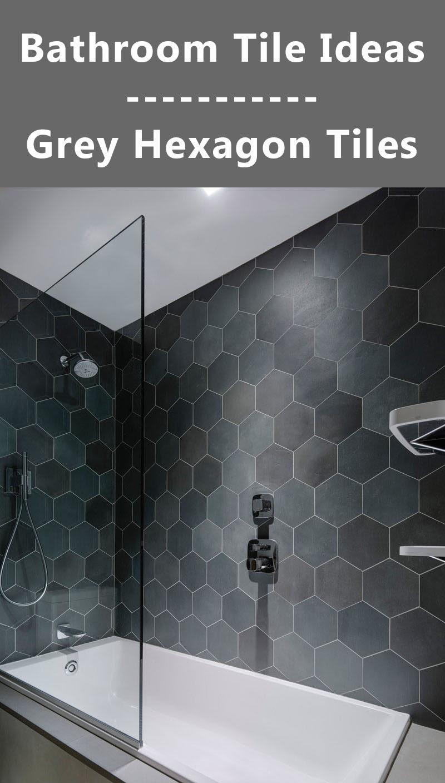 Bathroom Tile Ideas - Grey Hexagon Tiles   CONTEMPORIST