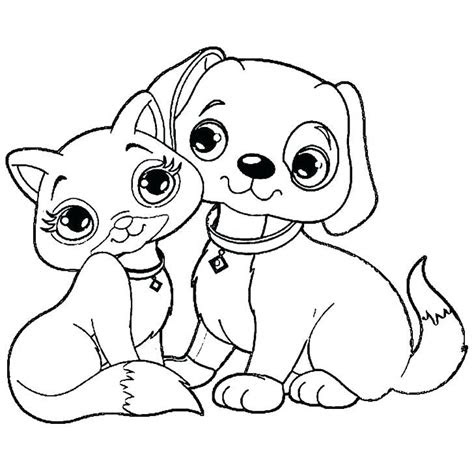 dog  cat coloring pages printable  getcoloringscom