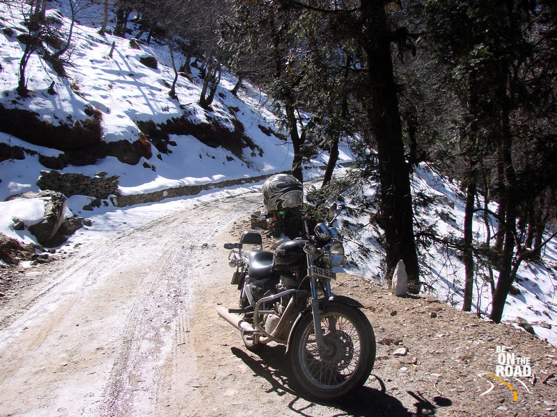 On top of the impassable Jalori pass, Himachal Pradesh, India