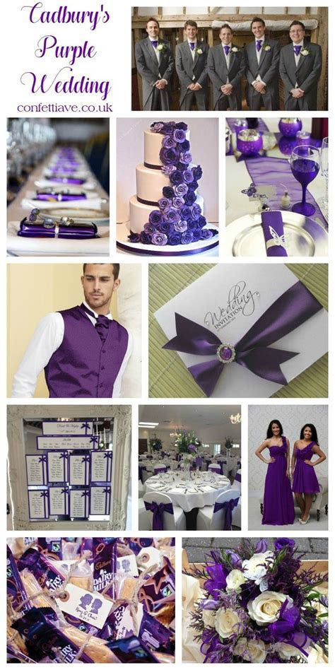 cadburys purple wedding colour scheme mood board   Wedding