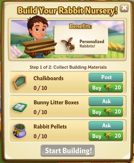 Rabbit Nursery - FarmVille 2