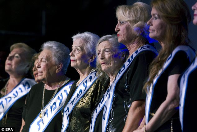 Line-up: A total of 16 women, all aged over 70, entered the second edition of the annual contest