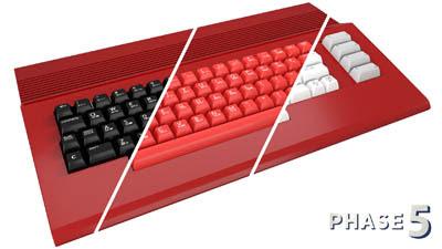 teclado commodore colores - 2