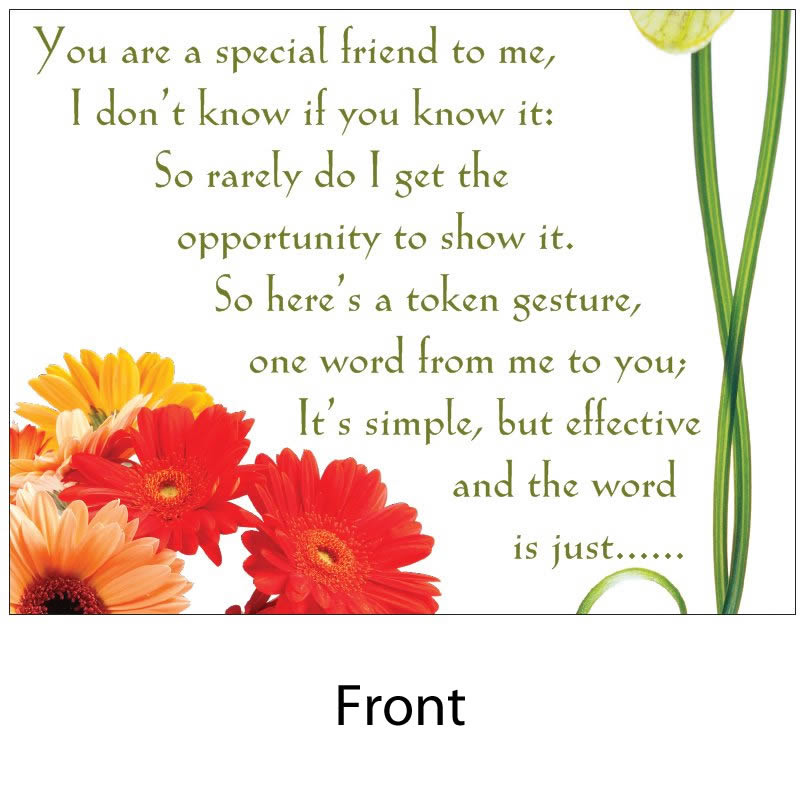 Angelas Poems Shop Special Friend With Envelope