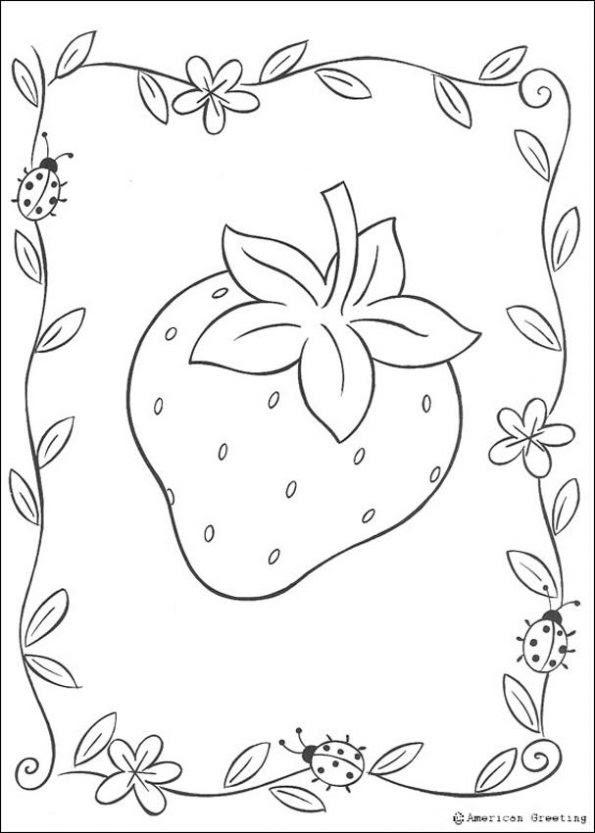 Dibujo De Fresa Dibujo Para Colorear De Fresa Dibujos Infantiles