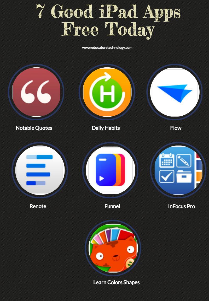 7 Good iPad Apps Free Today