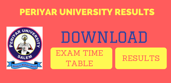 Periyar University Results Exam Time Table Download