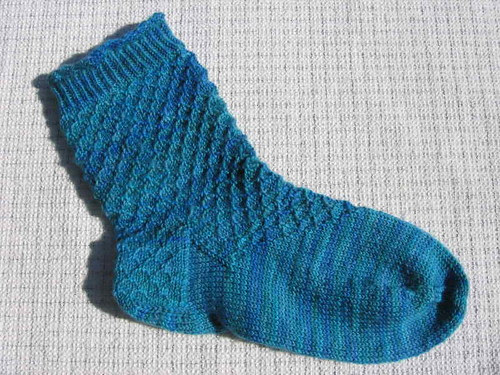 Blue Green Sock
