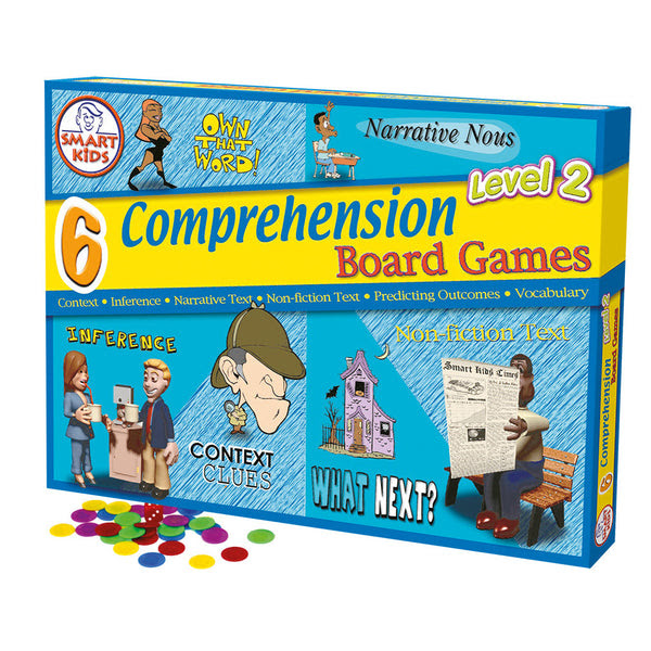 6 Reading Prehension Board Games Level 2 – Smart Kids