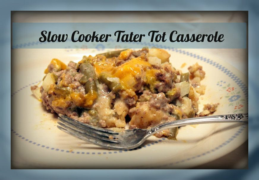 Tater Tot Casserole in the Slow Cooker | Sidetracked Sarah