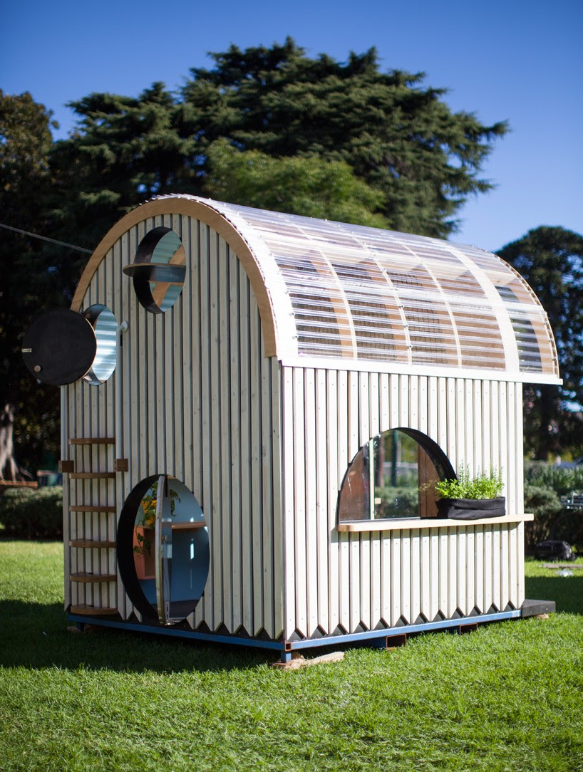 doherty design studio constructs children's cubbyhouse for charity