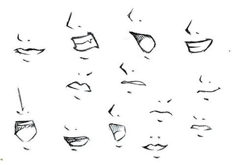 anime mouths  noses art craft  diy pinterest