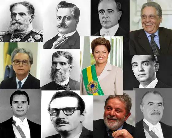 Resultado de imagem para presidentes brasileiros