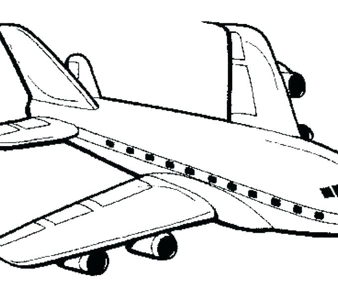Airplane Clipart Coloring Page Coloring And Drawing