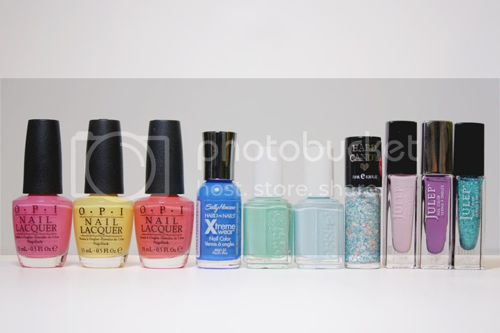 Spring Nail Polish Picks 2014 OPI Sally Hansen Julep Hard Candy Essie