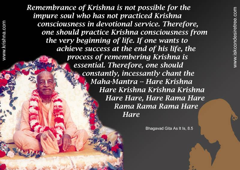 Constantly Chanting The Hare Krishna Mahamantra Spiritual Quotes