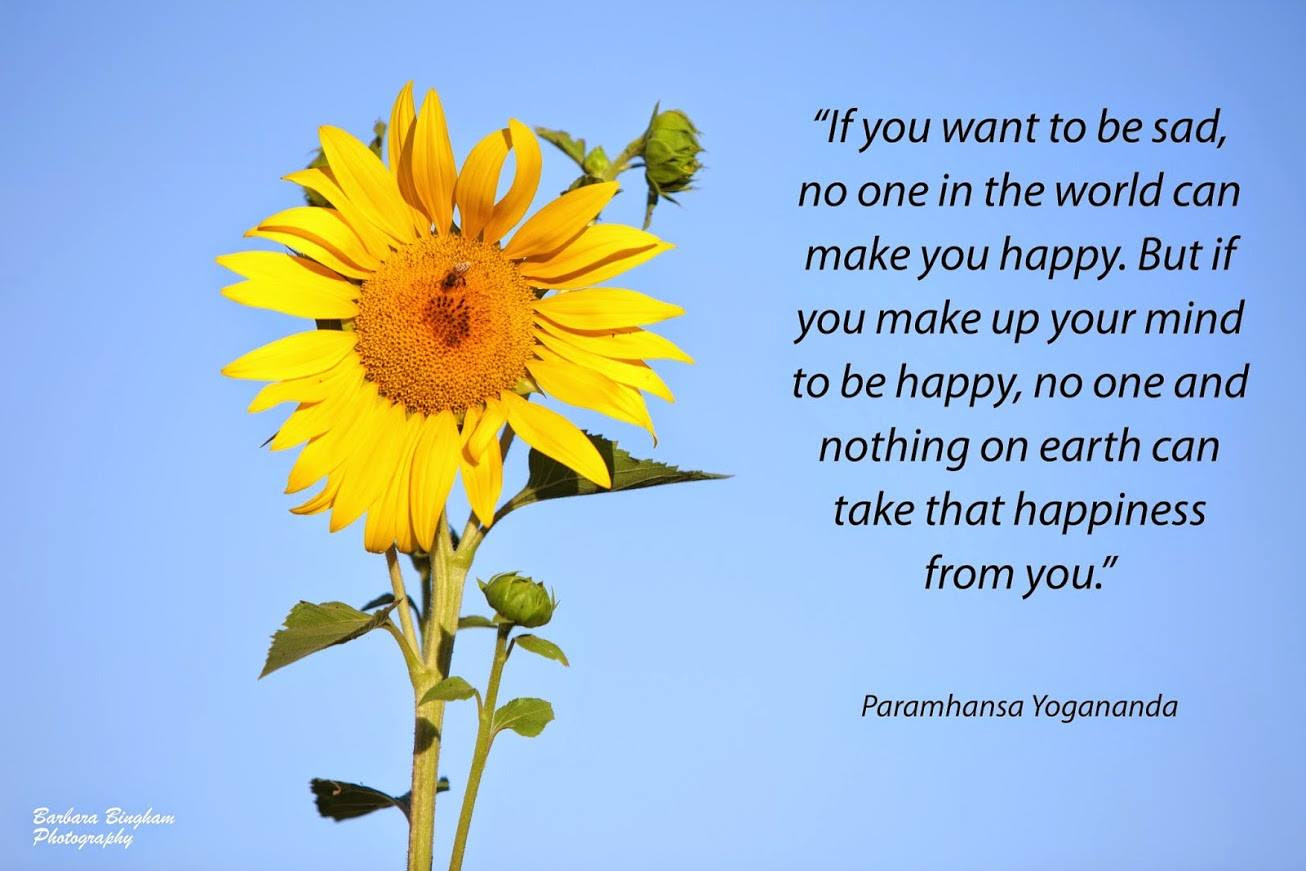 If You Make Up Your Mind To Be Happy Paramhansa Yogananda And