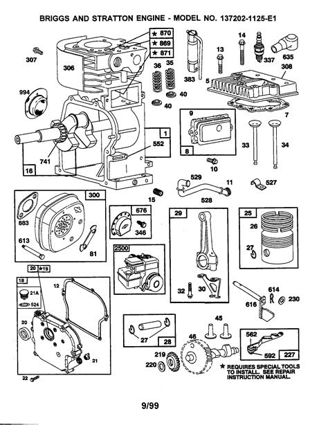BRIGGS & STRATTON ENGINE Parts | Model 1372021125E1
