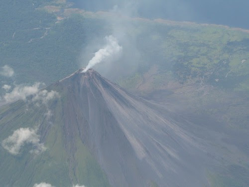 Arenal Volcano from air