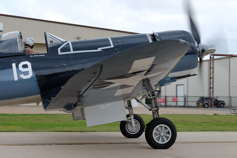 F4U Corsair taxying out