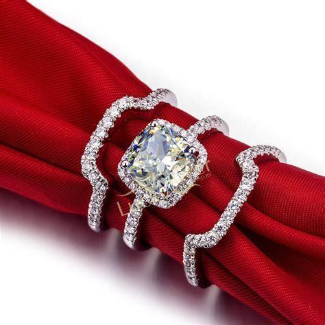 Top Luxury 3 Carat SONA Diamond Engagement Ring Set Best