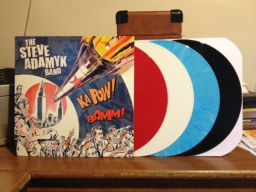 The Steve Adamyk Band - S/T LP - Red, White, Blue & Black Vinyl by Tim PopKid