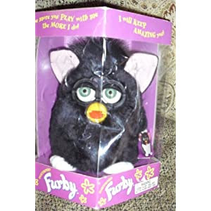 1998 Furby - Black w/ Pink Eears & White Feet