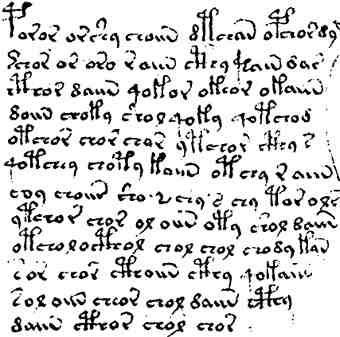 Texto del manuscrito Voynich