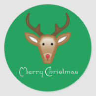 Reindeer Cupcake Toppers/Stickers