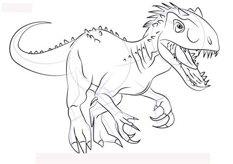 ausmalbilder dinosaurier indoraptor - kostenlose malvorlagen ideen
