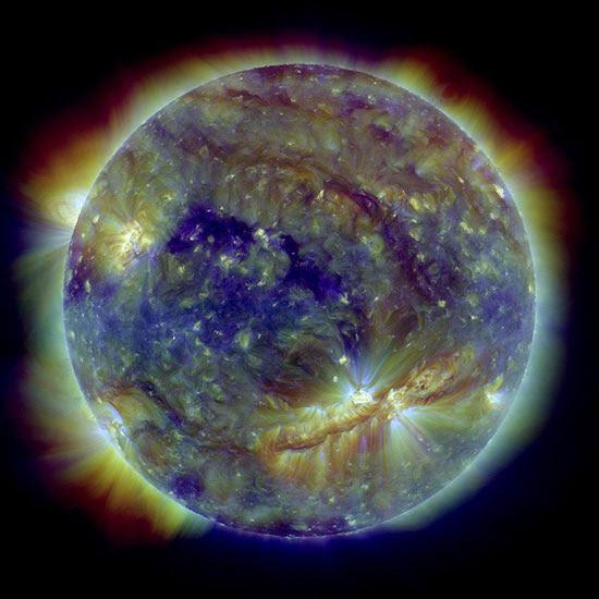 Nenhuma das explosões produziu uma ejeção expressiva de massa coronal como a registrada pela Nasa