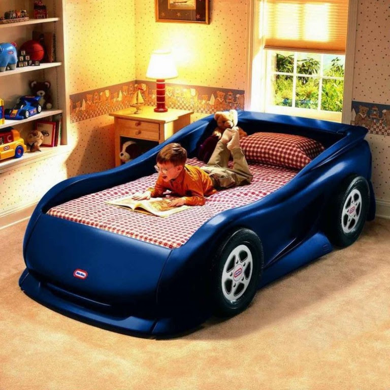 3-Blue-Car-Inspired-Bed-for-Boys