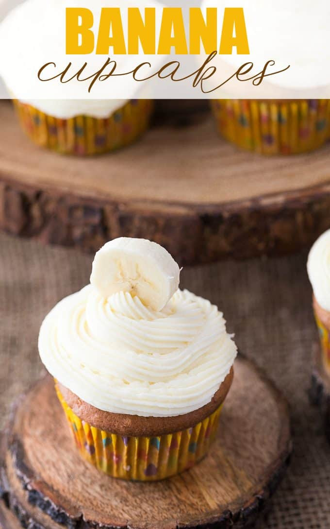 Banana Cupcakes by Simply Stacie