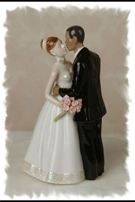 Elegant Interracial Wedding Cake Topper Figurine   N & D