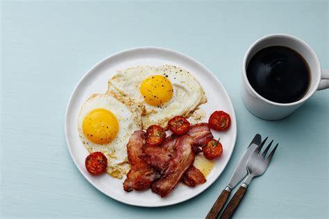 keto bacon  eggs classic breakfast recipe diet doctor