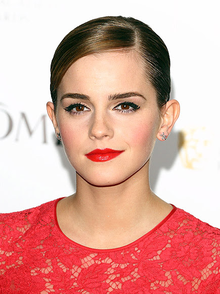 SLICKED-DOWN STRANDS photo | Emma Watson