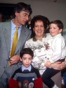 Umberto Bossi e famiglia