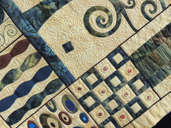Detail of Inspired by Gustav Klimt by Genevieve Grundy