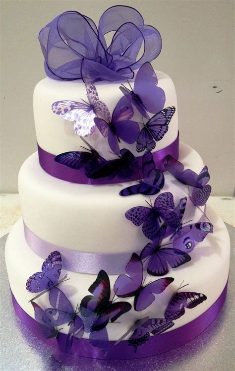 The 25  best Butterfly wedding cake ideas on Pinterest