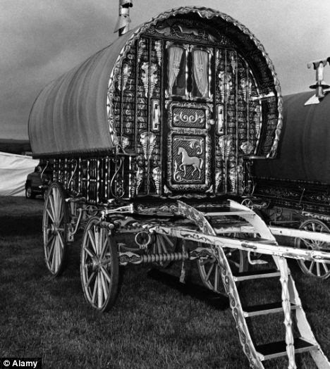 Inauspicious beginnings: Chaplin may have been born in a gypsy travelling wagon similar to this