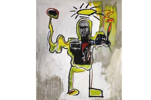 Jean-Michel Basquiat, Untitled (The Black Αθλητής) (1982).