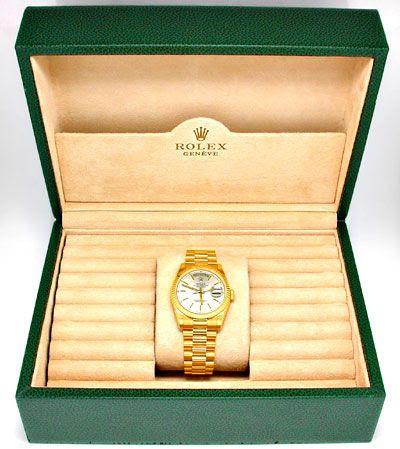 Foto 4, Rolex Day Date massivband! Gelbgold Geprüft Ungetragen!, U1935
