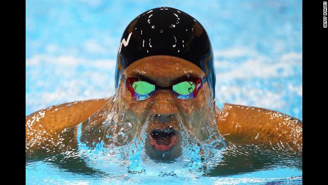 Kosuke Kitajima of Japan competes in a men's 200-meter breaststroke heat Tuesday.