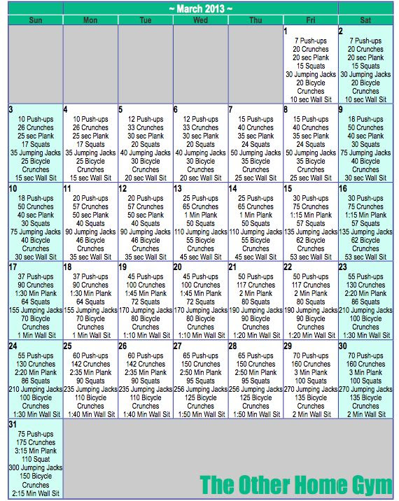1000+ ideas about Daily Workout Schedule on Pinterest | Weekly ...