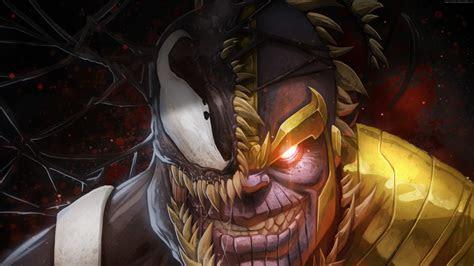 wallpaper marvel comics thanos venom  art wallpaper