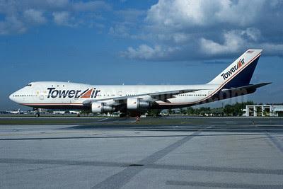 Tower Air Boeing 747-121 N604FF (msn 19659) MIA (Bruce Drum). Image: 102755.
