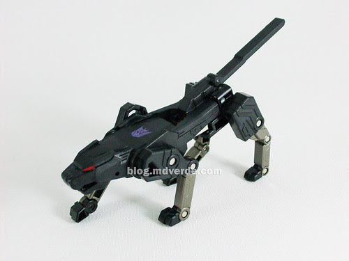 Transformers Ravage Device Label - modo bestia