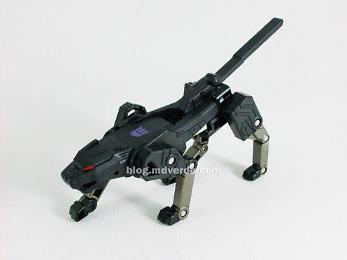 Transformers Ravage Device Label - modo bestia