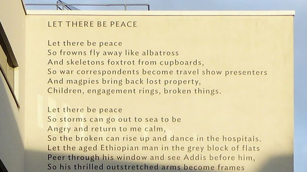 Lemn Sissay Let There Be Peace A Giant Landmark Poem The World