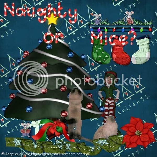 Himalayan Cat,Mice,Elves,Christmas